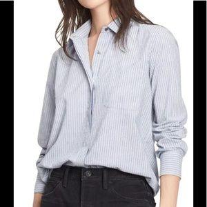 Vince Stripe Cotton Shirt